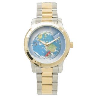 Reisen die Welt Uhr