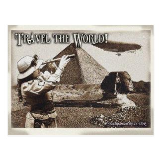 Reisen die Weltpostkarte Postkarte