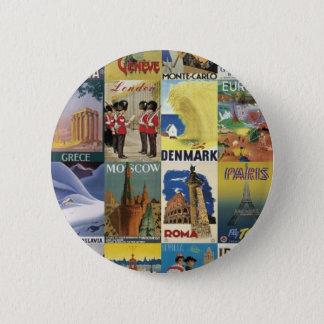 Reisen - Stift Runder Button 5,1 Cm