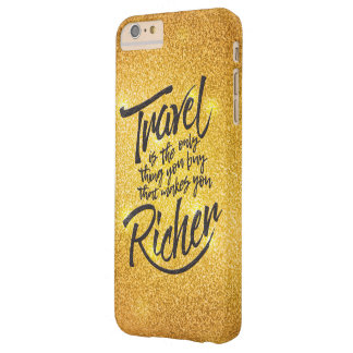 Reisendes Zitat - GoldGlitterentwurf Barely There iPhone 6 Plus Hülle