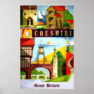 Reiseplakat Cheshires, Großbritannien Poster