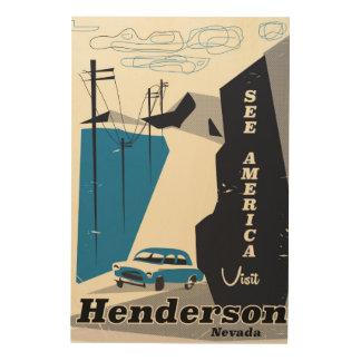 Reiseplakat Henderson Nevada USA Holzleinwand