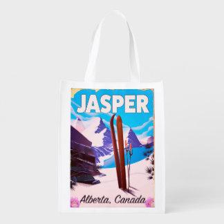 Reiseplakat Jaspis-Albertas Kanada Wiederverwendbare Einkaufstasche
