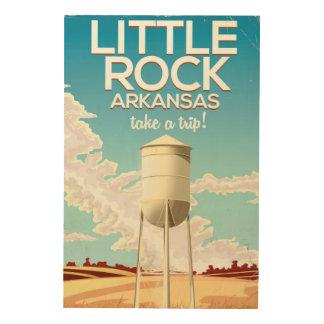 Reiseplakat Little Rocks Arkansas Holzwanddeko