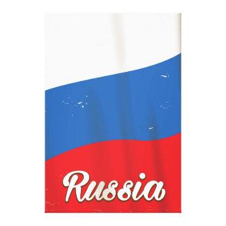 Reiseplakat nationaler Flagge Russlands Russland Leinwanddruck