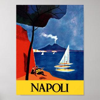 Reiseplakat Neapels, Italien Poster