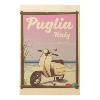 Reiseplakat Puglia Italien Holzwanddeko