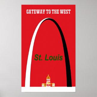 Reiseplakat St. Louis, Missouri Poster