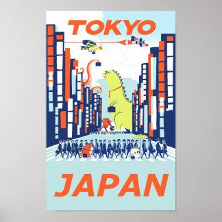 Reiseplakat Tokyos, Japan Poster