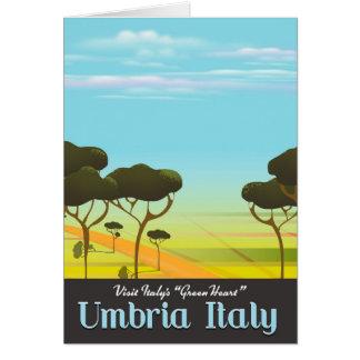 Reiseplakat Umbriens Italien Karte