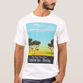 Reiseplakat Umbriens Italien T-Shirt