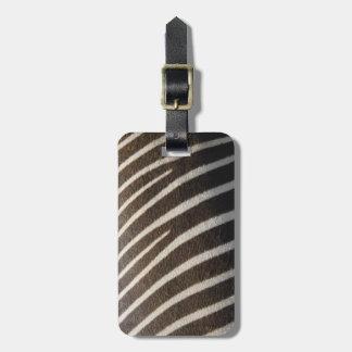 ReiseSchwarz-weißer Zebra-Tierstreifen-Druck Kofferanhänger