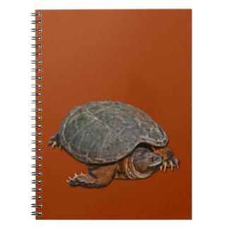 Reißende Schildkröte Dosenschildkröte-Liebhaber Spiral Notizblock