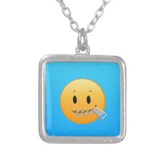 Reißverschluss Emoji Versilberte Kette