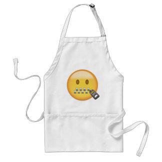 Reißverschluss-Mund Gesicht Emoji Schürze
