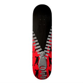 Reißverschluss zugemachte oben Zombies überall 19,1 Cm Old School Skateboard Deck