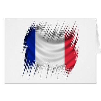 Reißwolf-Franzose-Flagge Karte