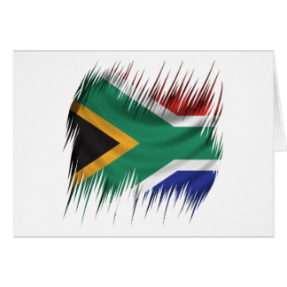 Reißwolf-Südafrika-Flagge Karte