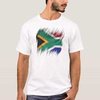 Reißwolf-Südafrika-Flagge T-Shirt