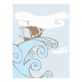 Reiten der Welle Postkarte