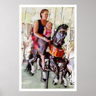 Reiten des Karussells mit Mamma Poster