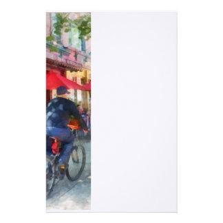 Reiten hinter das Café Briefpapier