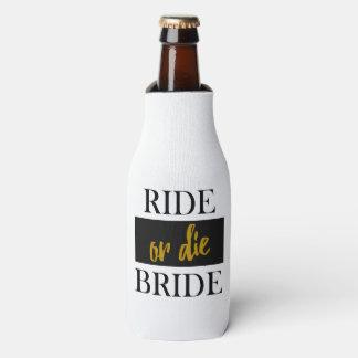 Reiten Sie oder die Braut-Gold und schwarzes Flaschenkühler