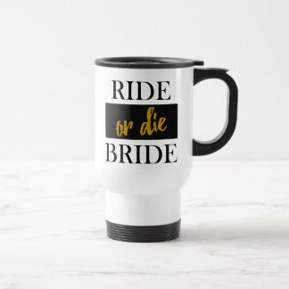 Reiten Sie oder die Braut-Schwarzes und GoldTravel Reisebecher