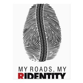 Reiter-Identität Postkarte