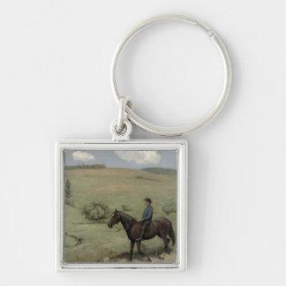 Reiter in einer Landschaft, 1894 (Öl an Bord) Schlüsselanhänger