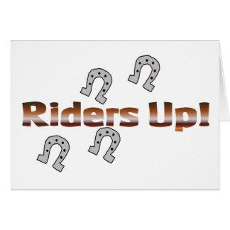 Reiter oben! silberne Hufeisen Karte