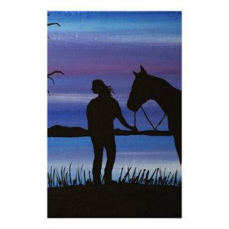Reiter und Pferd Briefpapier