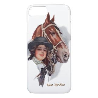 Reiterfrau und Pferd fertigen besonders an iPhone 7 Hülle
