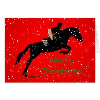 ReiterJumpin großes Weihnachten Karte