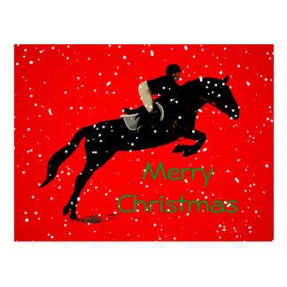 ReiterJumpin großes Weihnachten Postkarte