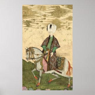 Reiterporträt des Sultans Osman II 1618 Poster