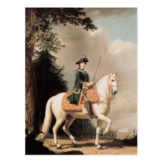 Reiterporträt von Catherine II Postkarten