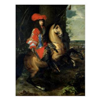 Reiterporträt von Louis XIV Postkarte