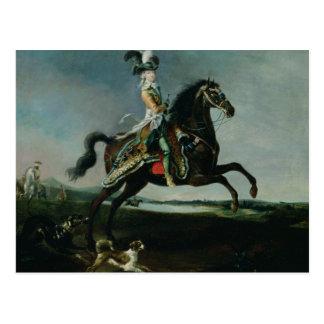 Reiterporträt von Marie-Antoinette Postkarte