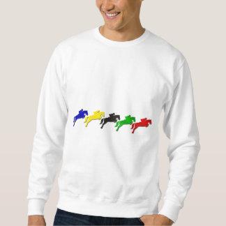 Reiterspringendes Pferd des dressage und der Show Sweatshirt