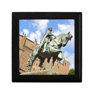 Reiterstatue in Barcelona, Spanien Schmuckschachtel