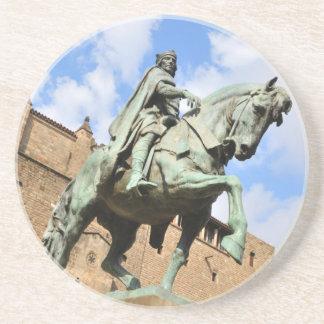 Reiterstatue in Barcelona, Spanien Untersetzer