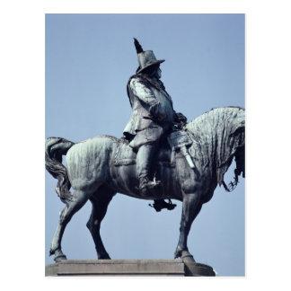 Reiterstatue von Charles Gustav X, Postkarte