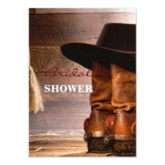 Reitstiefel und Cowboyhut 11,4 X 15,9 Cm Einladungskarte