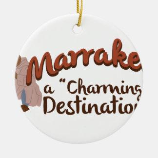 Reizend Bestimmungsort Marrakeschs Keramik Ornament
