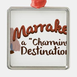 Reizend Bestimmungsort Marrakeschs Silbernes Ornament
