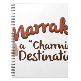 Reizend Bestimmungsort Marrakeschs Spiral Notizblock