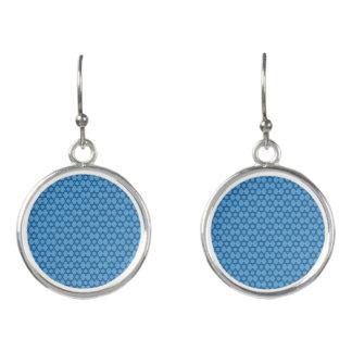 Reizend blauer Davidsstern Jüdisch Ohrringe