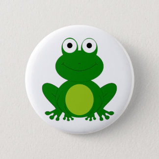 Reizend Cartoonfrosch Runder Button 5,1 Cm