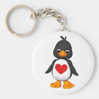 Reizend der Pinguin Keychain Standard Runder Schlüsselanhänger